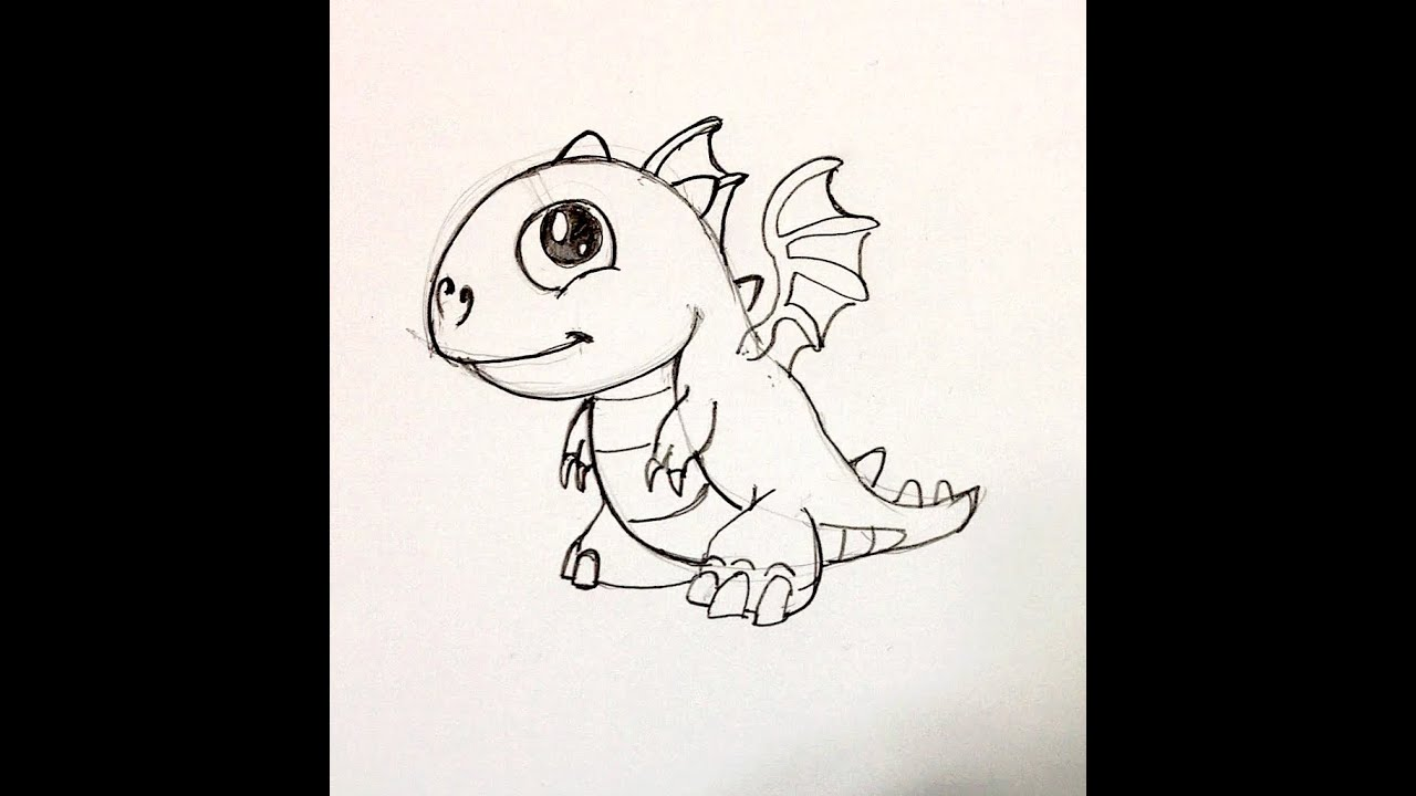 Uncategorized Baby Dragon Drawing spee draw baby fire dragon from dragonvale youtube
