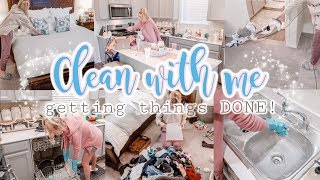 CLEAN WITH ME//GETTING THINGS DONE//SPEED CLEANING MOTIVATION