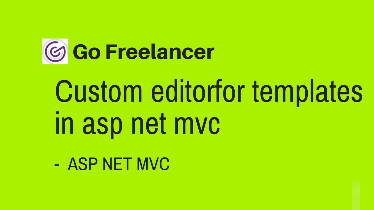 Custom Editorfor Templates In Asp Net Mvc Youtube