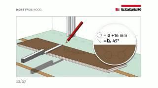 Правила укладки ламината. Видео от компании Egger.(Подробную инструкцию по укладке ламината можно посмотреть здесь:http://floors-doors.ru/stati/40-laminirovannyj-parket-laminat-tekhnologiya-uk..., 2013-12-10T13:30:02.000Z)