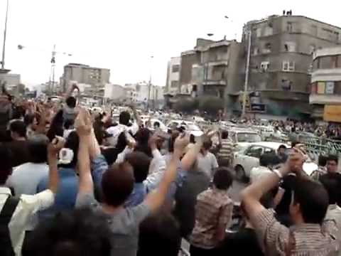 New clip -  Mousavi, if you back out, You are a Traitor  - Iran Tehran 15 June 2009.flv