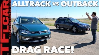 Compared & Drag Raced: Subaru Outback Vs Vw Alltrack!