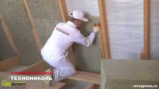 видео Звукоизоляция перегородок и стен в каркасном доме