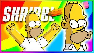 HOMER SIMPSON IS ONE OF THE GOATS | Skribbl.io Funny Game, Pictionary Online