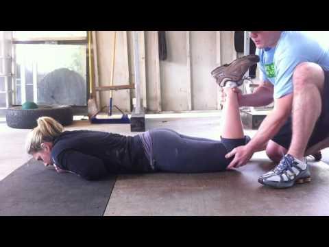 Deep six lateral rotator partner stretch