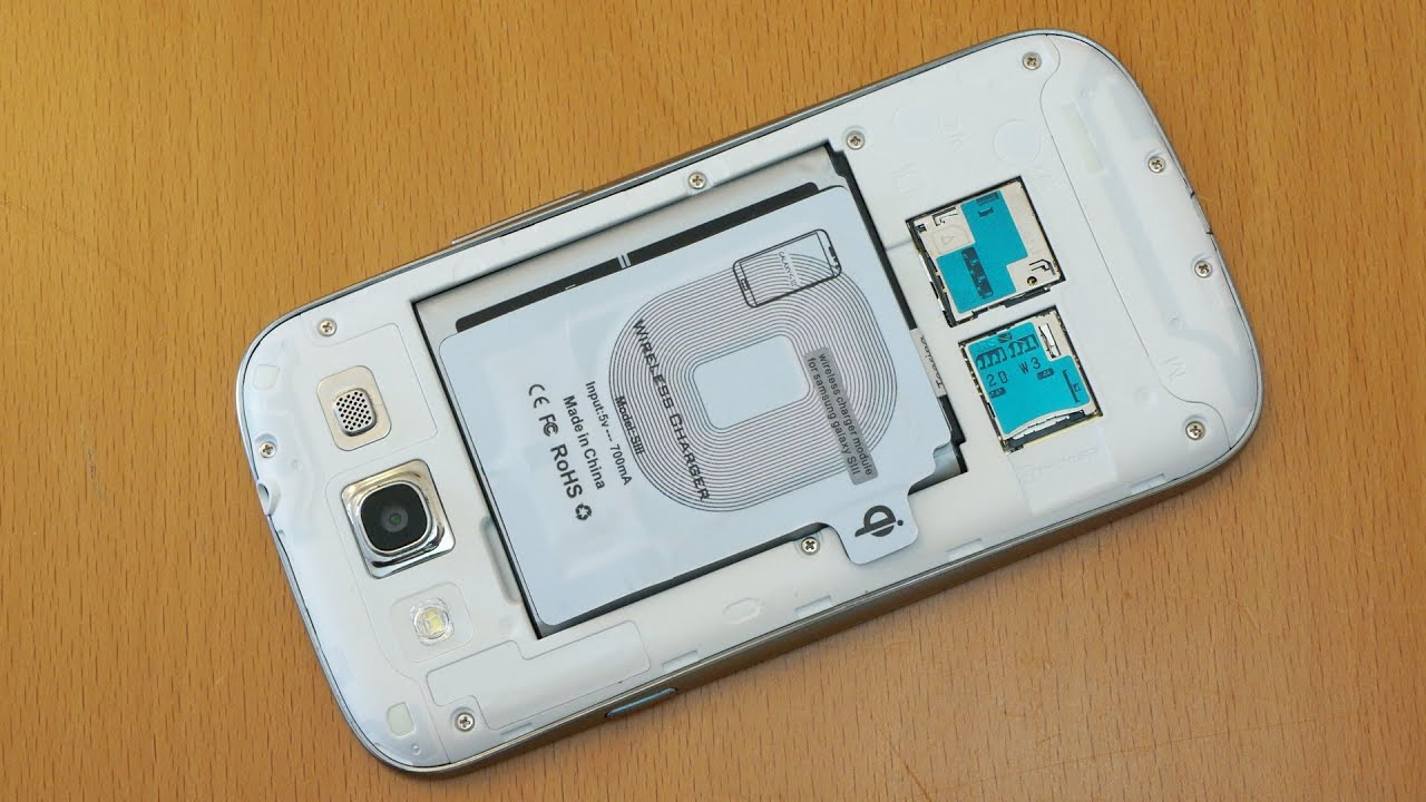 Samsung Galaxy S3 Wireless Charging With Standard Back