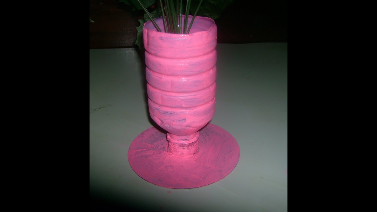 how to paint plastic bottle flower vase with acrylic paint youtube
