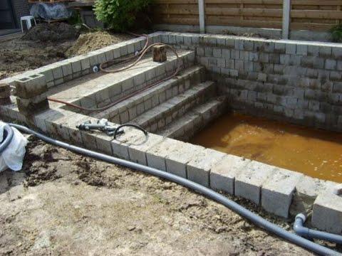 een zwembad bouwen een trap in het zwembad plaatsen youtube