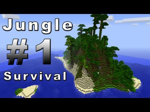 MINECRAFT JUNGLE ISLAND SURVIVAL - PART 1