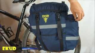 Велорюкзак на багажник двухсекционный Чип и Дейл видео обзор