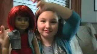 American Girl Doll Chrissa And The Code Red Wig