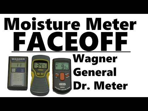 Moisture Meter Accuracy Test - Wagner vs General vs Dr. Meter