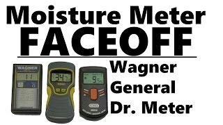 Moisture Meter Accuracy Test - Wagner vs General vs Dr. Meter