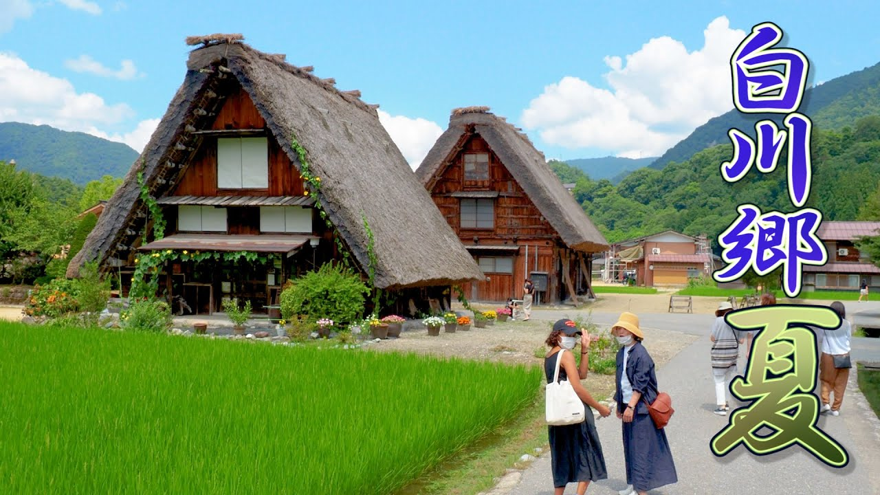 Shirakawa-go in the middle of summer 2021.World Heritage Site.  真夏の白川郷  #4K  #白川郷