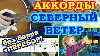 Северный ветер Аккорды 🎸 Дворовые песни ♫ Разбор на гитаре ♪ Перебор Текст