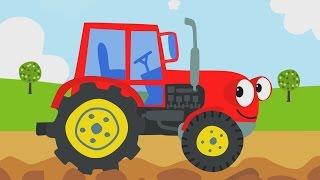 Песни для детей - Трактор - Мультик про машинки(Песенка про трактор - сильную и большую машину. Из видео дети узнают, что она делает и зачем нужна. Пойте..., 2015-08-03T09:33:18.000Z)