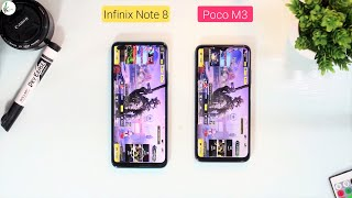Infinix Note 8 Vs Poco M3 Speed Test - MediaTek Helio G80 Vs Snapdragon 662