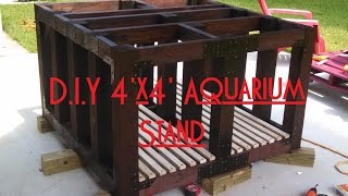 Building The 4'X4' Aquarium Stand