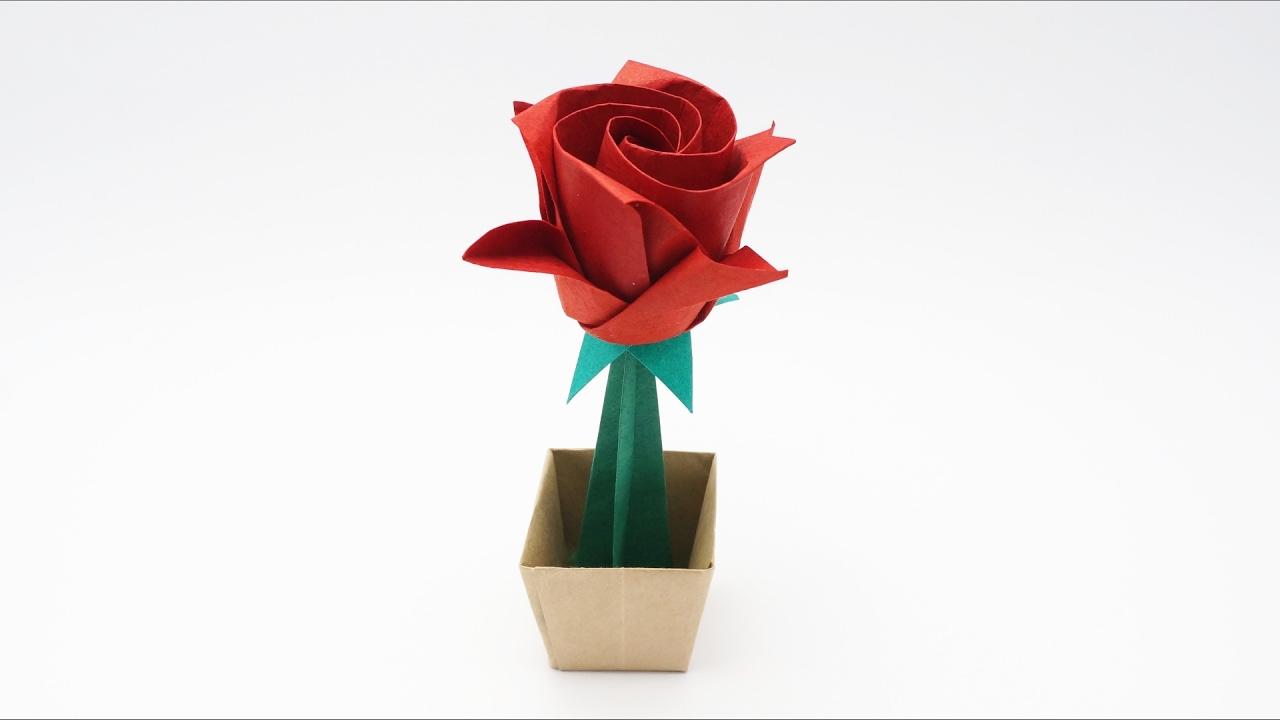 Origami Masahiro Rose Ichikawa Valentines Day Youtube Parrotdiagram By Barth Dunkan Ecorigami