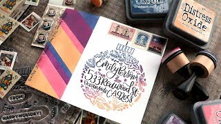 HOLIDAY MAIL ART - Multicolor Stamping with Non-Traditional Colors