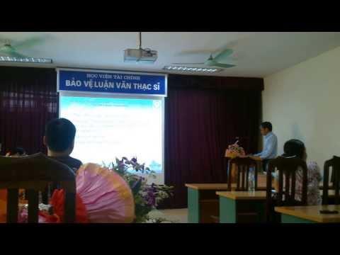 Bảo vệ luận văn Thạc Sĩ Học Viện Tài Chính -Đỗ Văn Sơn