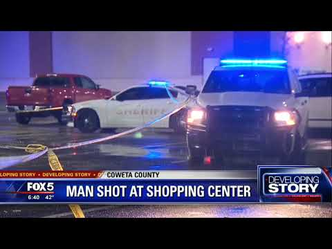 Coweta County man shot at shopping center