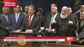 Coronavirus in Georgia   Gov. Kemp issues call to action for education leaders  and daycare provider
