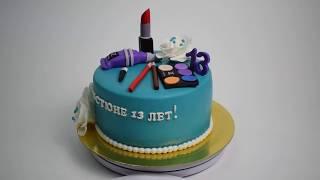 Торт на заказ ко дню рождения визажиста (Tortlike.ru)(, 2017-07-04T15:30:43.000Z)