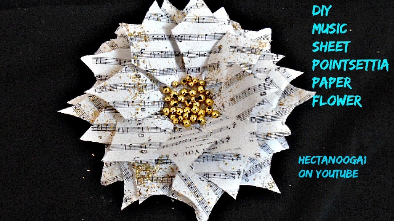 Music sheet pointsettia paper crafts christmas ornaments music sheet pointsettia paper crafts christmas ornaments holiday decor jeuxipadfo Choice Image