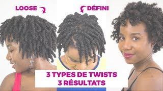 3 TYPES OF TWISTS / TWIST-OUT ON  SHORT 4B-4C NATURAL HAIR
