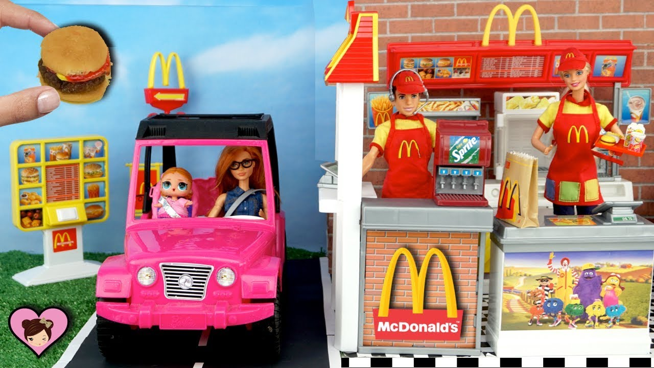 Barbie Doll Mc Donalds Drive Thru With Miniature Hamburger Happy Boneka Hello Kitty Wedding14ampquotn A Meal Maker Toy