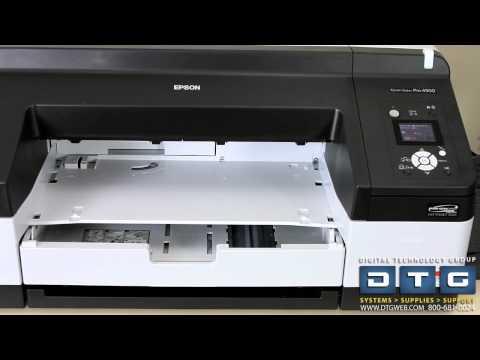 How to set up the epson stylus pro 4900 printer