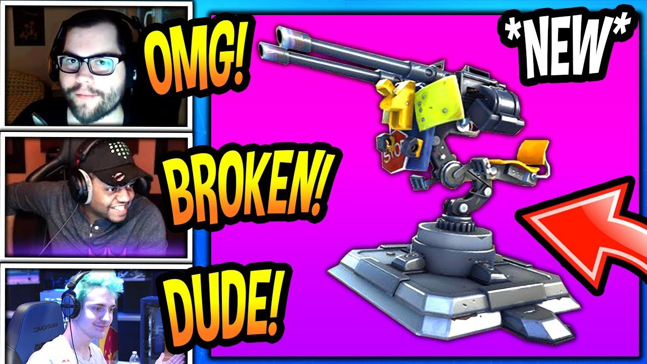 streamers-first-time-using-new-mounted-turret-gun-epic-fortnite-funny-savage-moments
