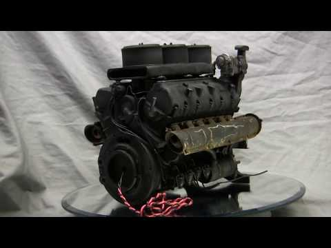 RC 1/6th scale Armortek Early Production Tiger video #9 (Animated Maybach HL210 Engine)