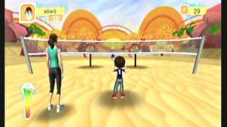 Wii Workouts - Jumpstart Get Moving Family Fitness for Wii - Volleyball