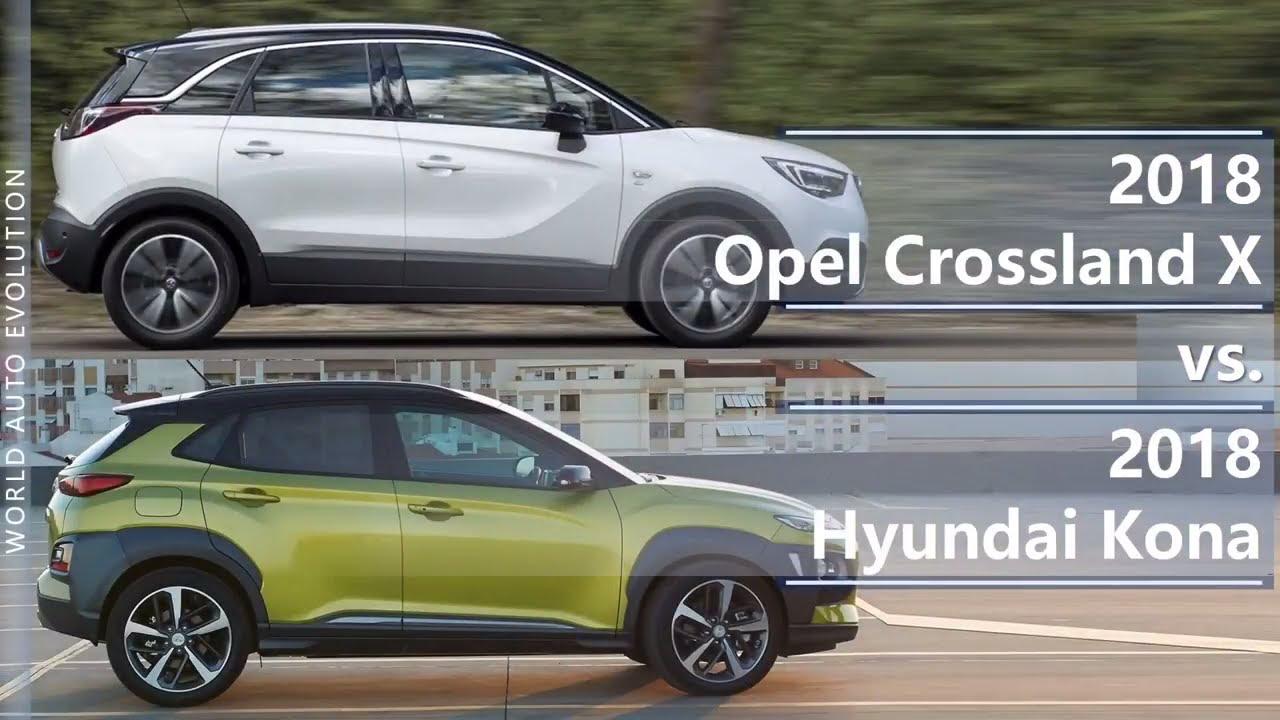 Hyundai Kona Fiche Technique >> 2018 Opel Crossland X Vs 2018 Hyundai Kona Technical