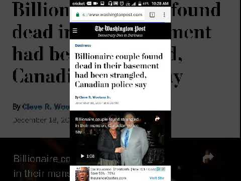 Toronto billionaire couple found dead at their home - WorldNews