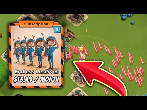 Is Endless Reserves Worth It?? All MAX ZOOKA GAMEPLAY! Boom Beach
