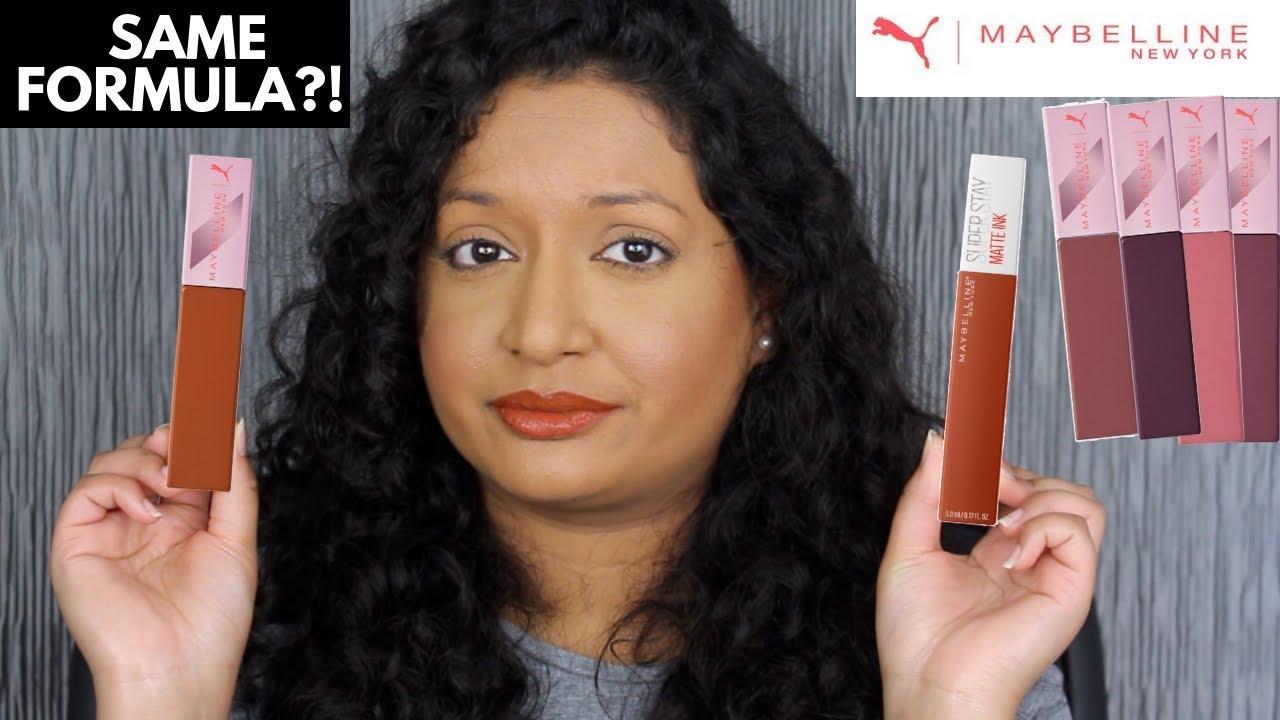 4120d70513b Maybelline X Puma SuperStay Matte Ink Liquid Lipsticks Review - YouTube