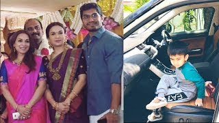 Soundarya Rajinikanth With son and Husband At Latest Family Function stills collection