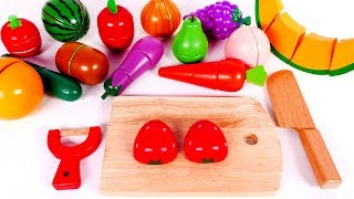 Learn Colors with Fruit and Vegetables Playset for Kids and Yippee Toys