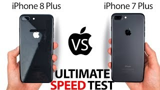 iPhone 8 Plus vs 7 Plus - The ULTIMATE SPEED Test!