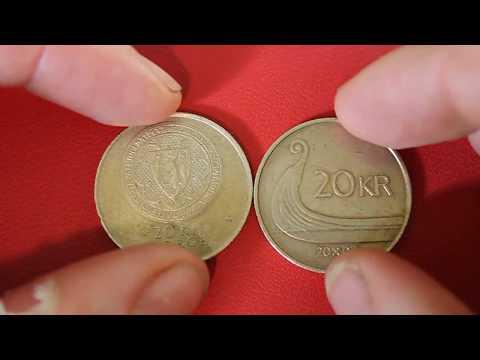 Rare Norwegian 20 Kroner Akershus commemorative Coin Video (Norway)