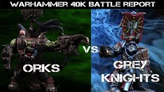 New Grey Knights vs Orks 7th ed. Warhammer 40K Battle Report - Jay Knight BatRep 20 (Part 1 of 2)