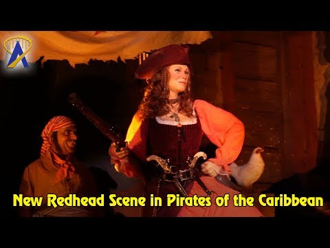 New Redhead Scene in Pirates of the Caribbean at Walt Disney World