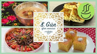 Ramazan 8. Gün İftar Menüsü: Parmak Kebabı - Köfteli Çorba - Yalancı Su Böreği - Revani