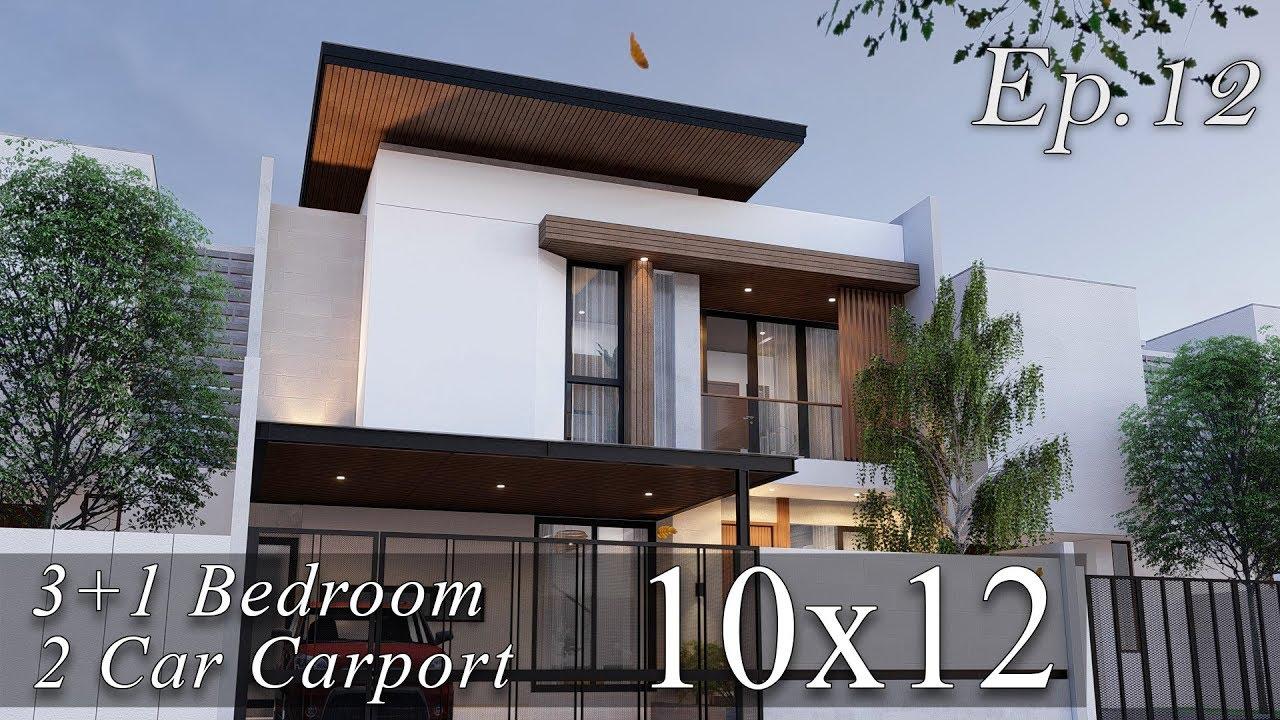 Desain Rumah Kontemporer 2 Lantai Lahan 12m X 10m Youtube