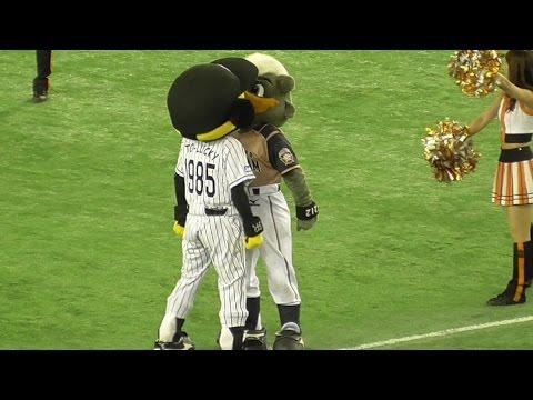 変態おじさんB☆B&トラッキー完璧ドアラ 爆転パフォーマンスタイム プロ野球オールスターゲーム2015