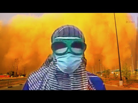 APOCALYPSE has begun ❌ Severe Sandstorm and Dust Storm in Kuwait 2021