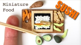 Miniature Sushi from Polymer Clay // Speed Sculpting Tutorial